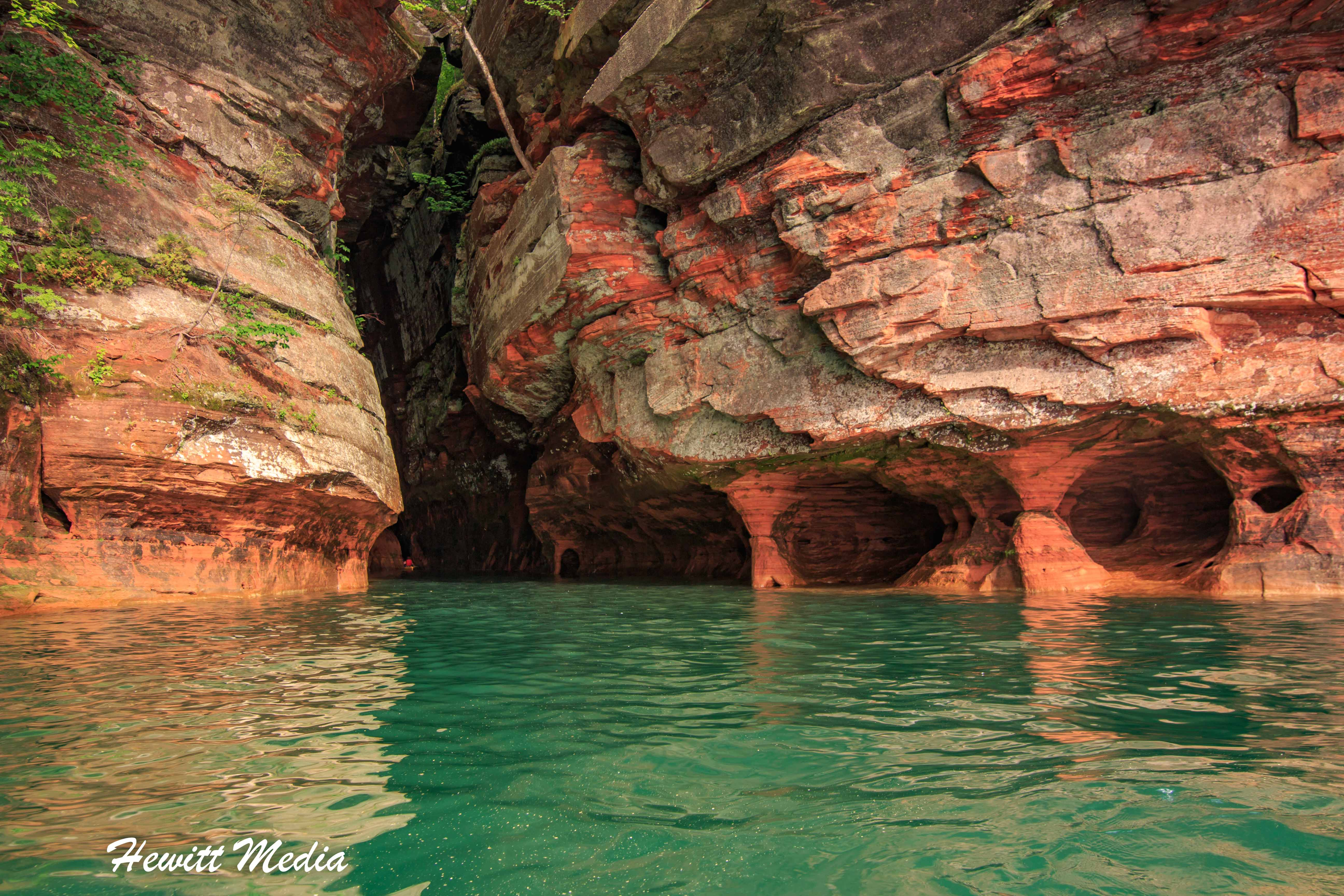 The sea caves in the Apostle Islands
