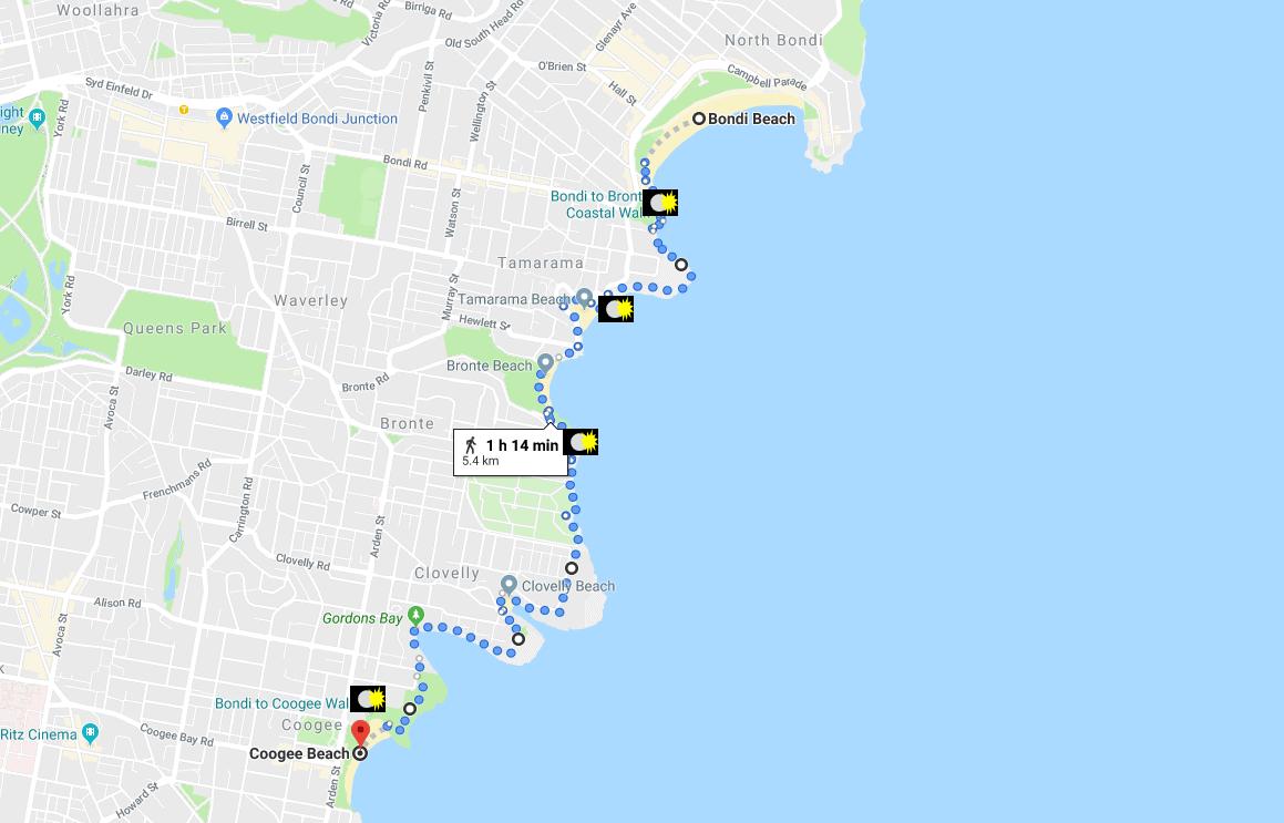 Bondi-Coogee walk - Photo Map