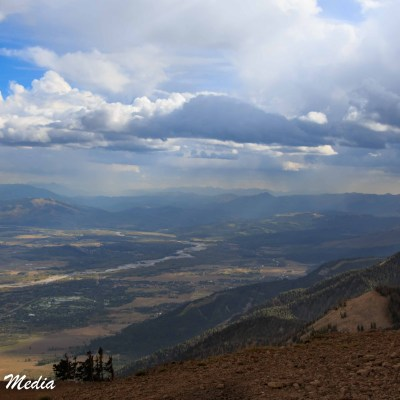 View from the top of the Jackson Hole Gondola