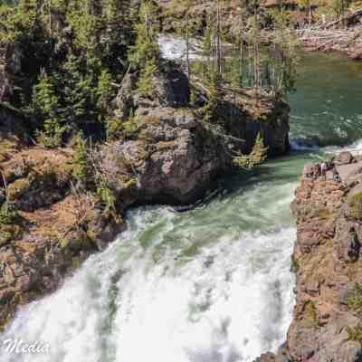On top of Yellowstone Falls
