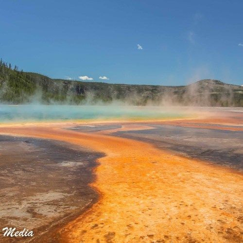 Grand Prismatic Hot Spring in Yellowstone