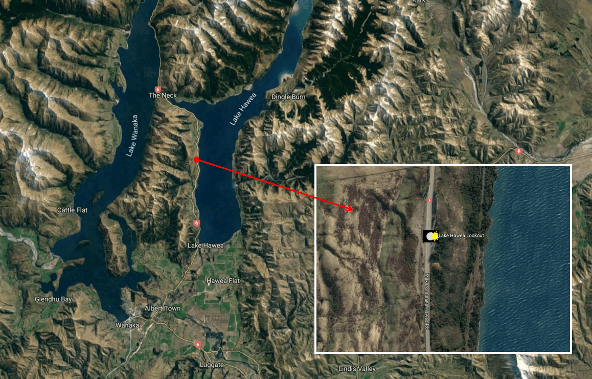 Lake Hawea Lookout - Photo Map