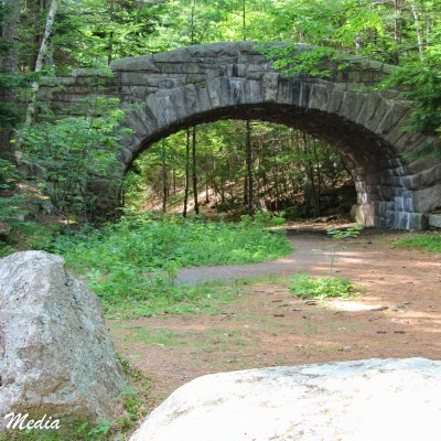 Bridge on one of Acadia National Park's Carriage Roads