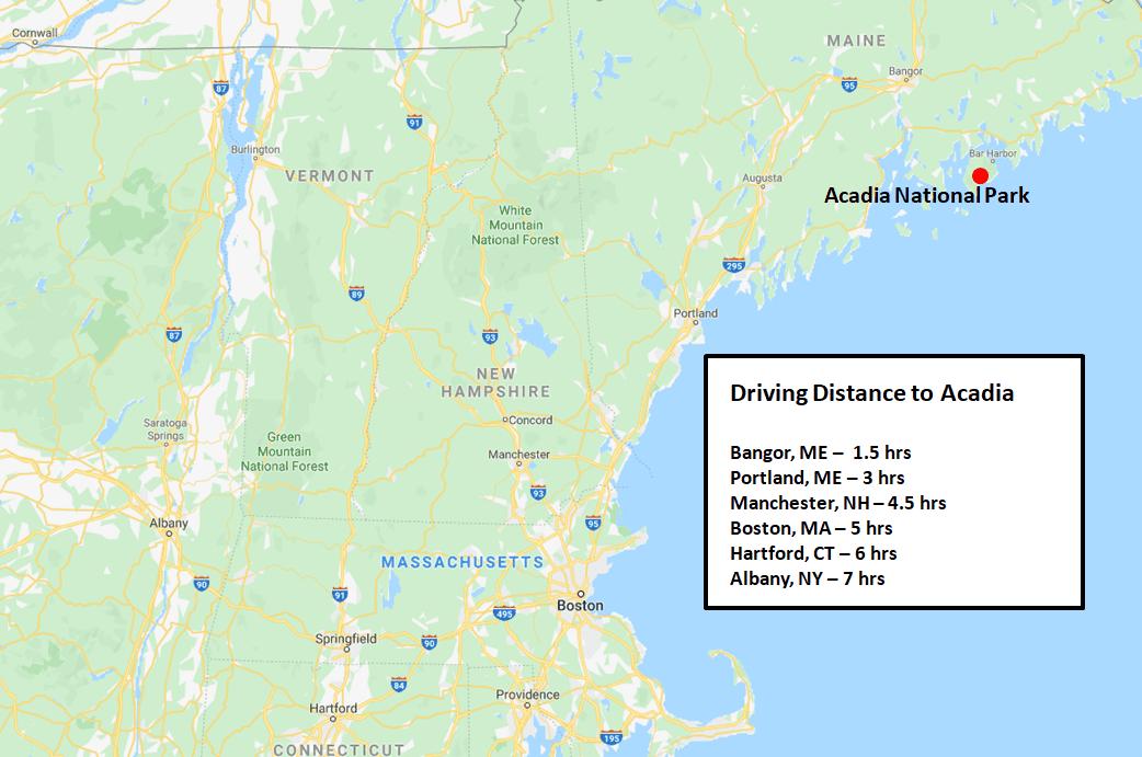 Acadia National Park Area Map