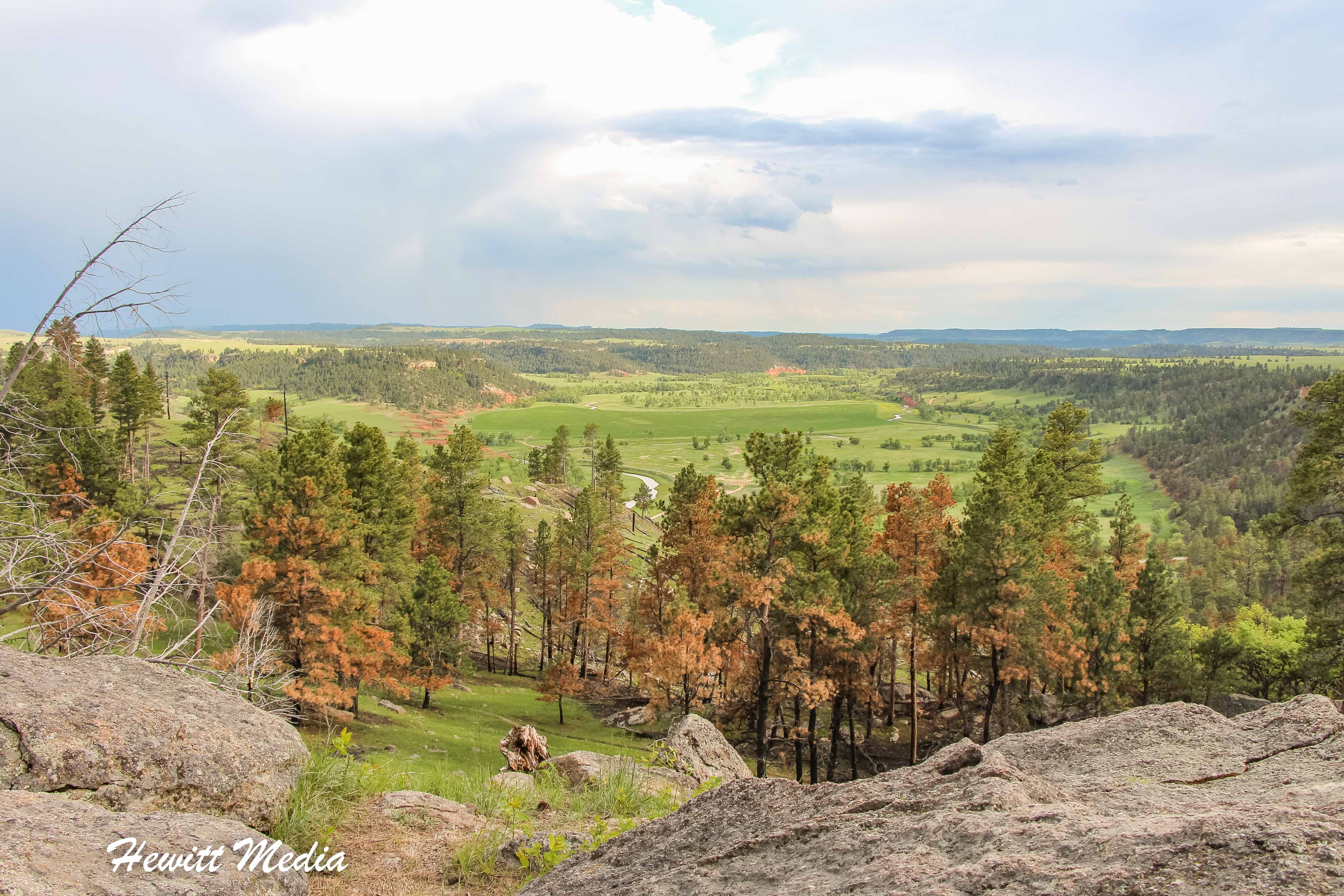 View of the surrounding valley from Devil's Tower National Monument