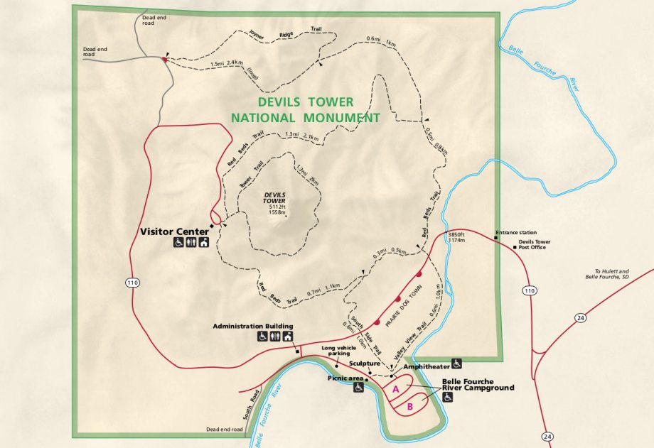 Devils Tower Park Map - Preview
