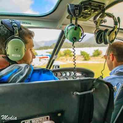On a helicopter tour of Franz Josef Glacier