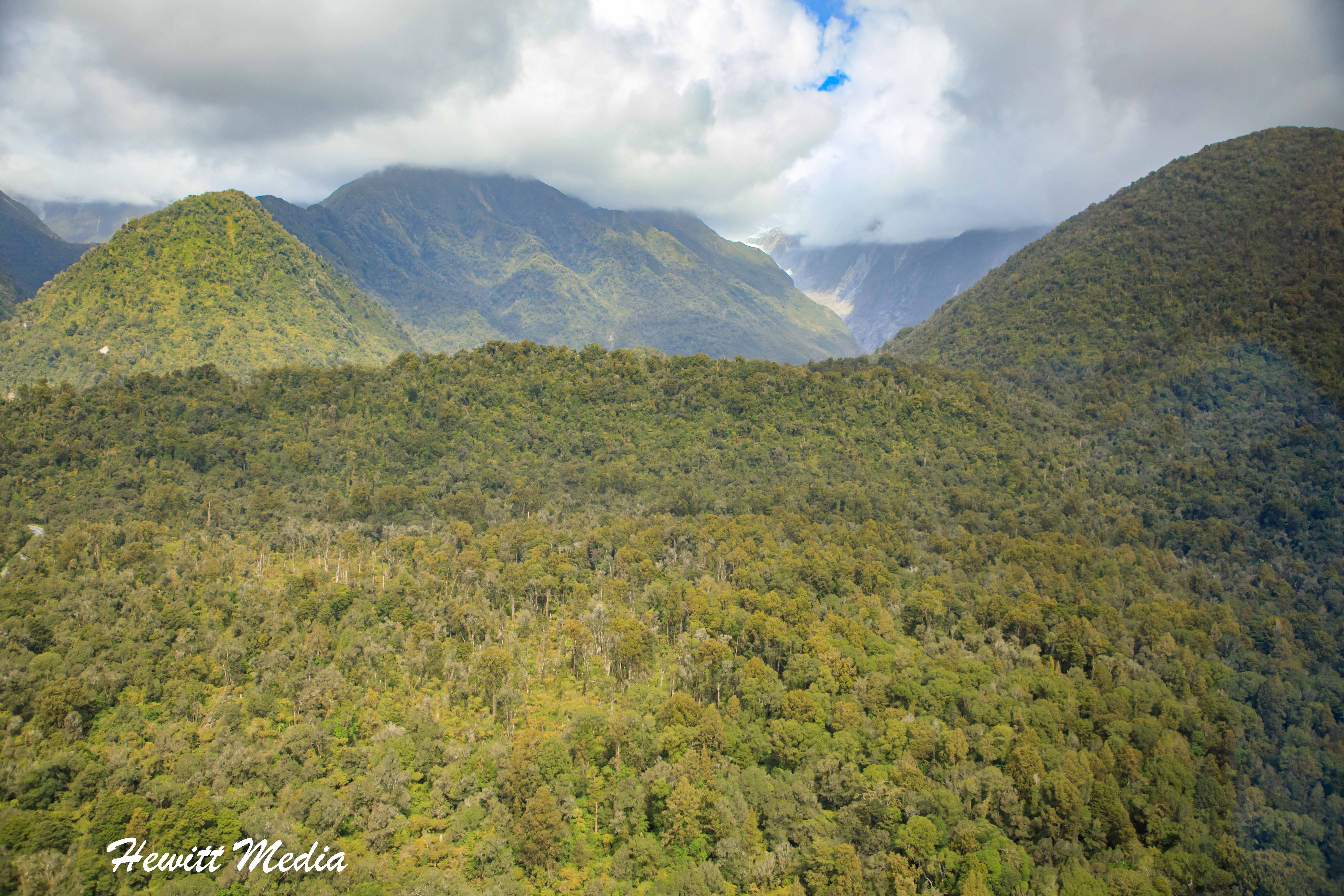 View from the Franz Josef Glacier Helicopter Tour