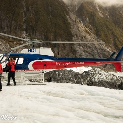 Landing on the Franz Josef Glacier