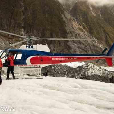 Landing on the Franz Josef Glacier