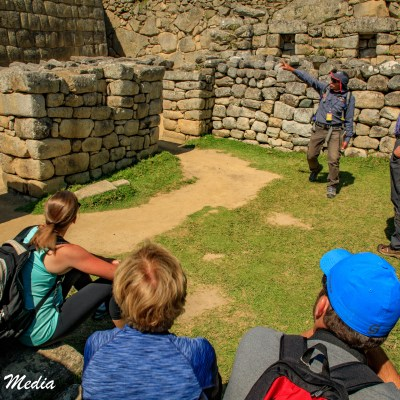 Touring the Ruins at Machu Picchu