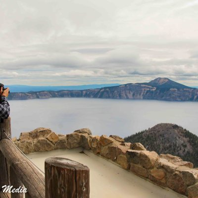 From Watchman Tower in Crater Lake National Park