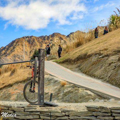 Bike Rack at Queenstown Hill