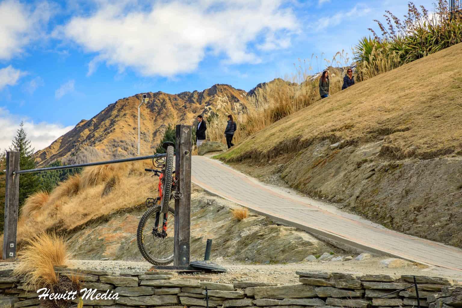 Bike Rack at Queenstown Hill