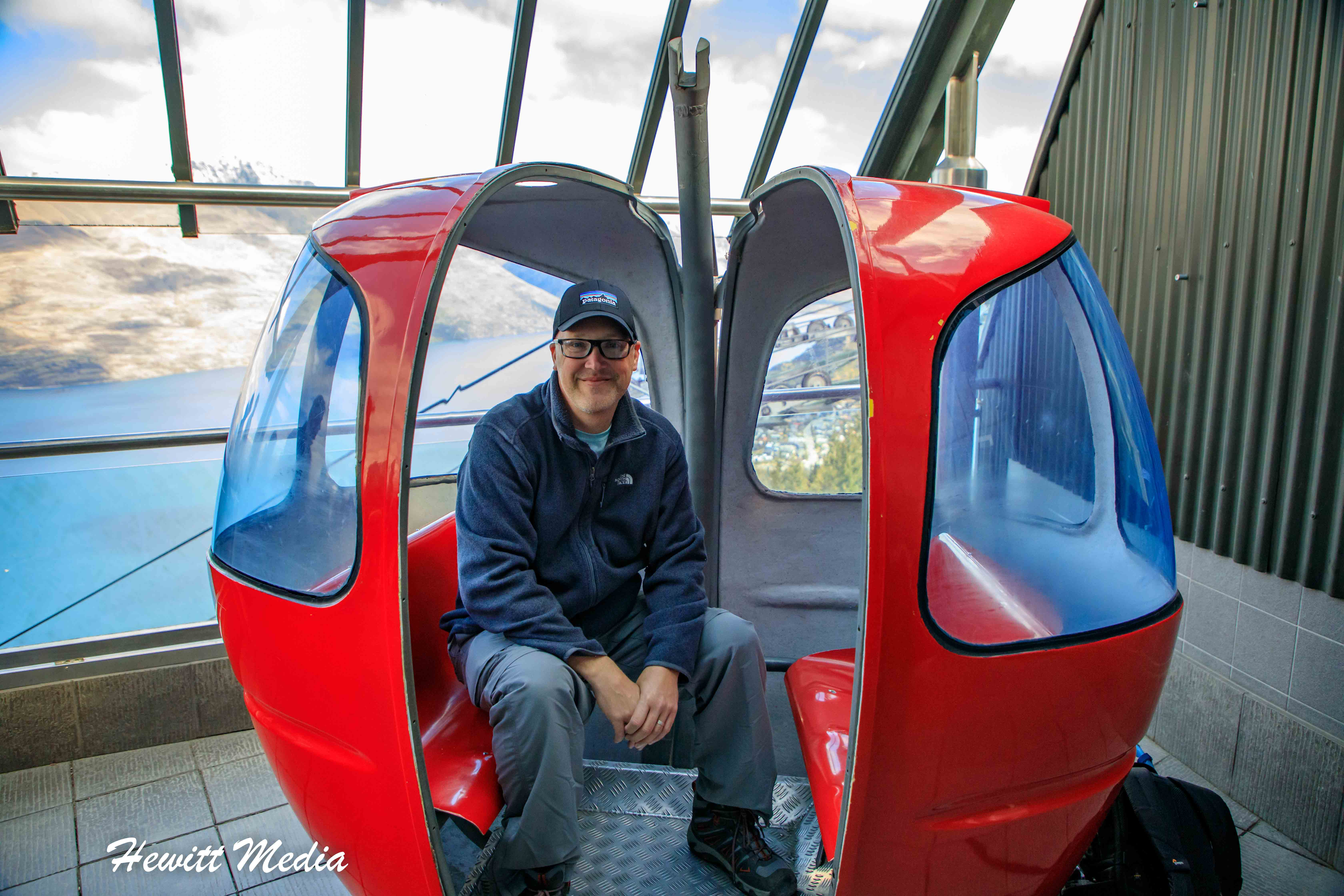 In a Gondola in the Queenstown from the Stratosfare Restaurant