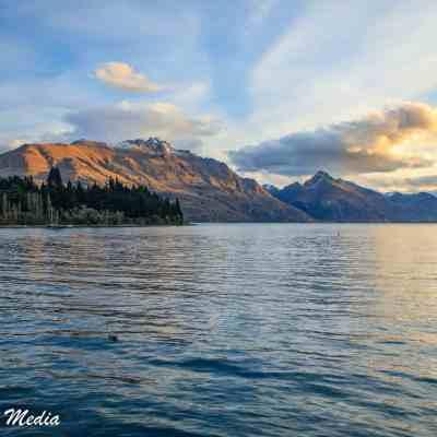Lake Wakatipu at Sunset