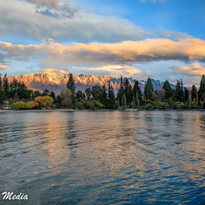Lake Wakatipu at Sunset