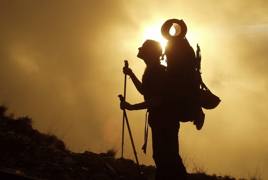 Mountain Climbing Sunrise