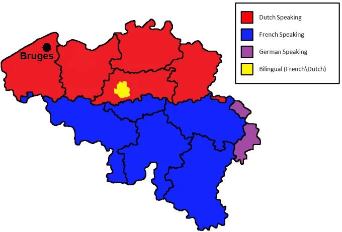 Bruges Travel Guide -  Regional Languages Map