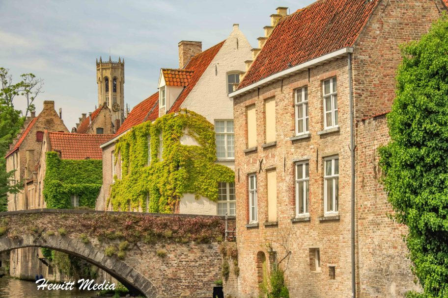 Bridge over Canal in Bruges