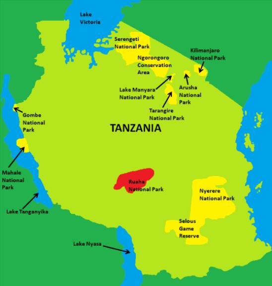 Ruaha National Park Map