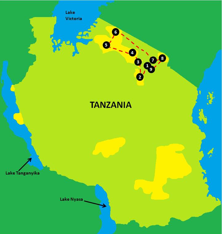 Tanzania Safari Itinerary
