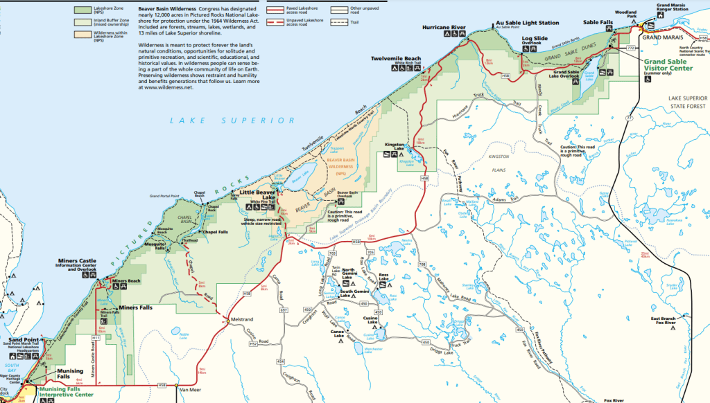 Pictured Rocks National Shoreline Map