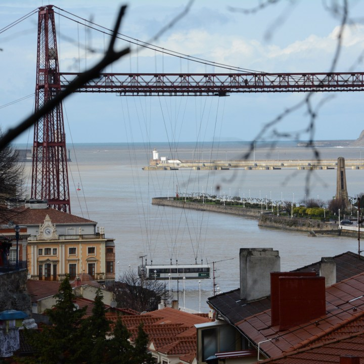 Gondola bridge vizkaya