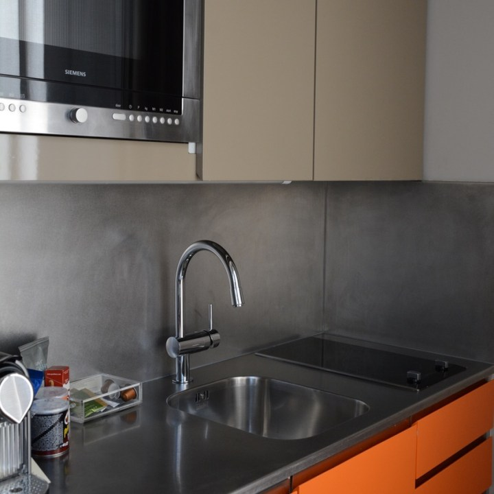 Paris France Hotel Residence Nell kitchenette