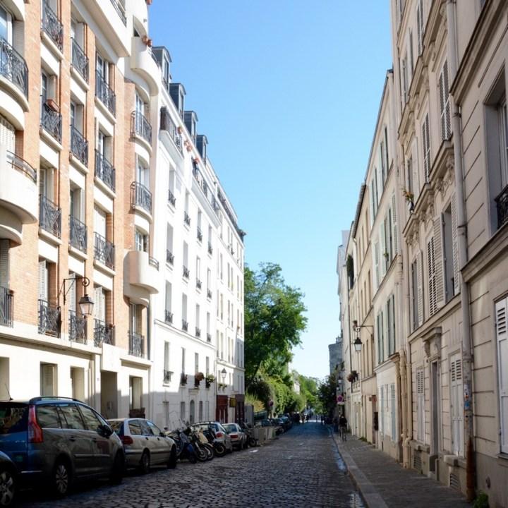 Paris France montmatre cobbles stone streets