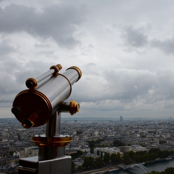 paris france eiffel tower binocular