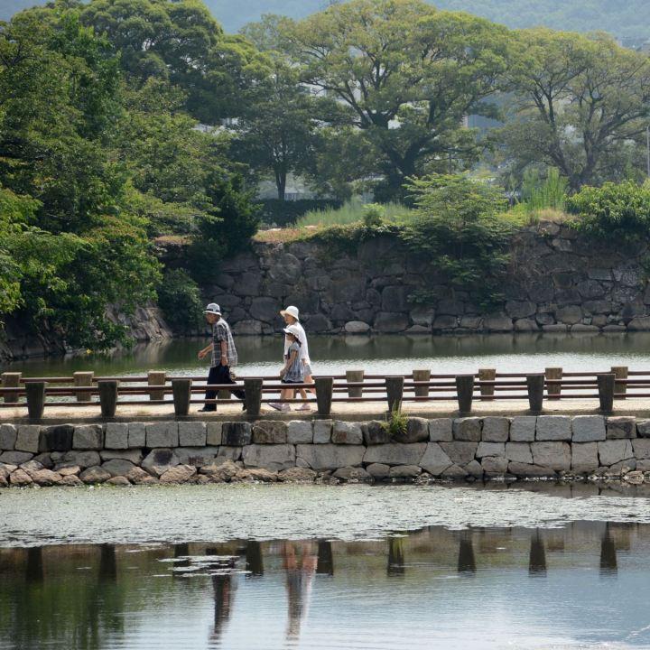 okayama castle japan bridge across moat