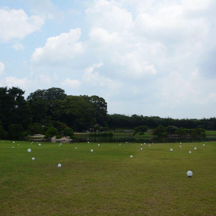 Okayama garden korakuen lawn