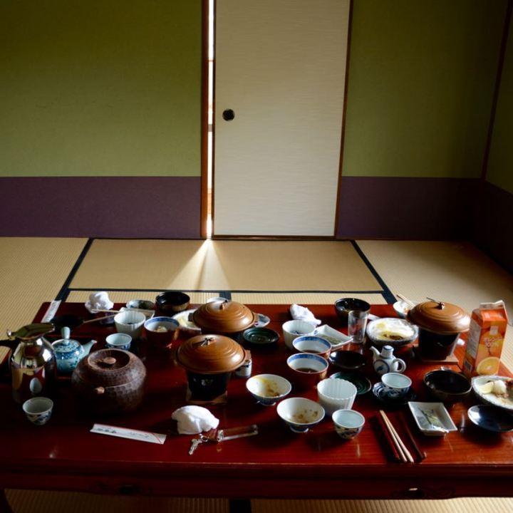 kurashiki bingoya ryokan japanese breakfast