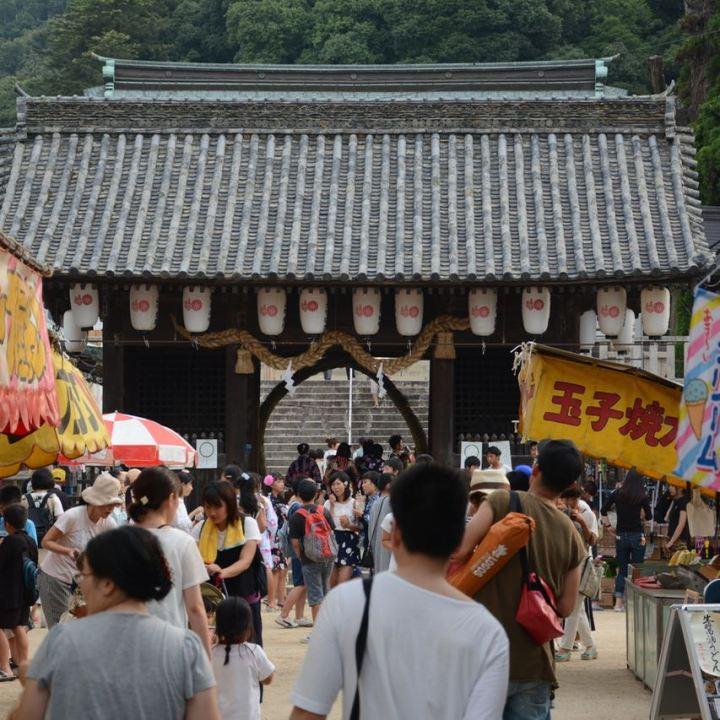 kibi plain cycle ride Kibitsuhiko Shrine festival