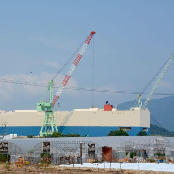 innoshima shimanami kaido cycle path car carrier
