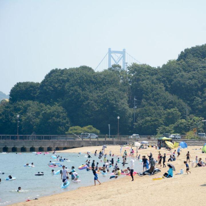 innoshima shimanami kaido cycle path beach