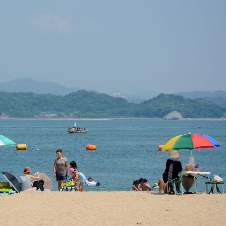 innoshima shimanami kaido cycle path beach
