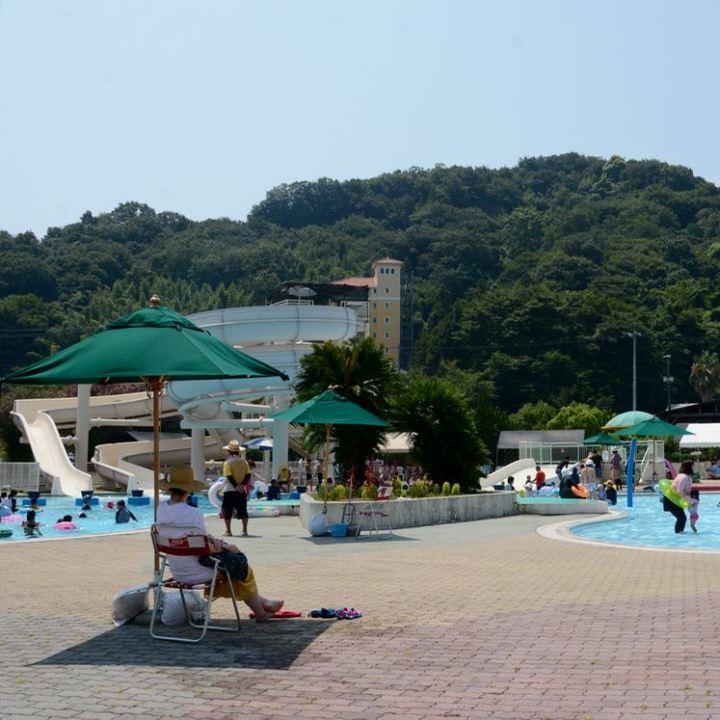 innoshima shimanami kaido cycle path outdoor swimming pool slides