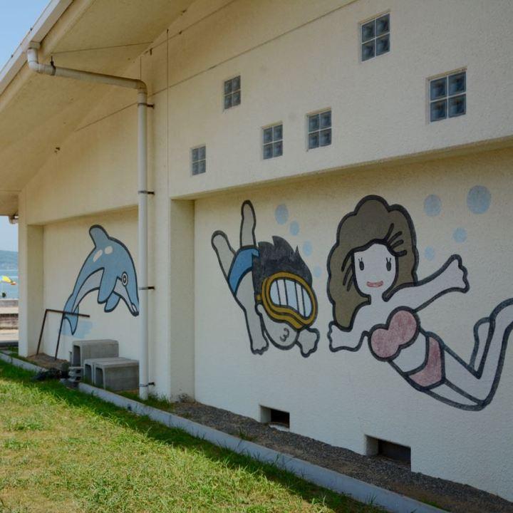 innoshima shimanami kaido cycle path outdoor swimming pool