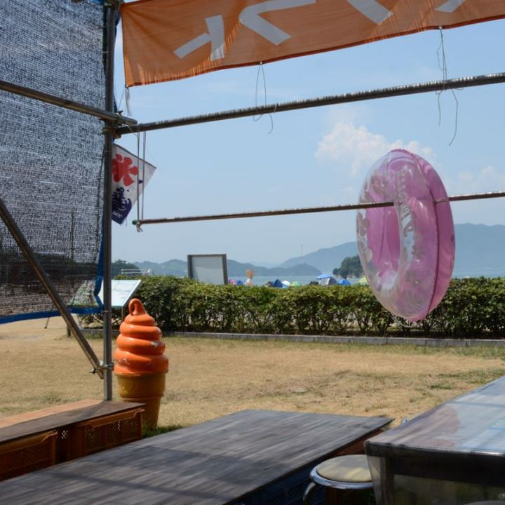 innoshima shimanami kaido cycle path food stalls tables