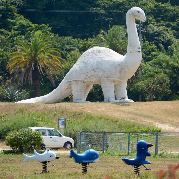 innoshima shimanami kaido cycle path brontosaurus