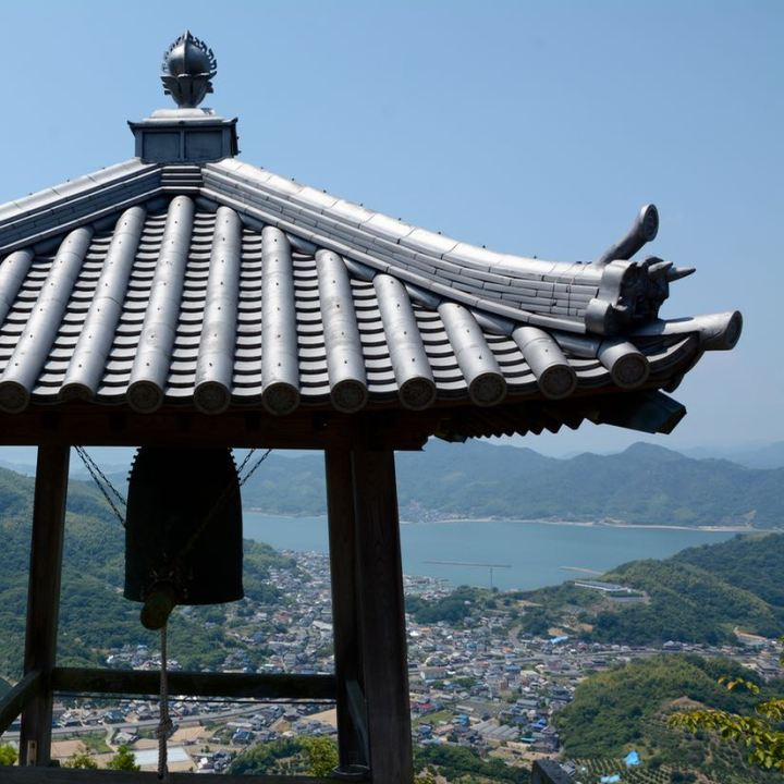 innoshima shiarataki shrine bell mountain top