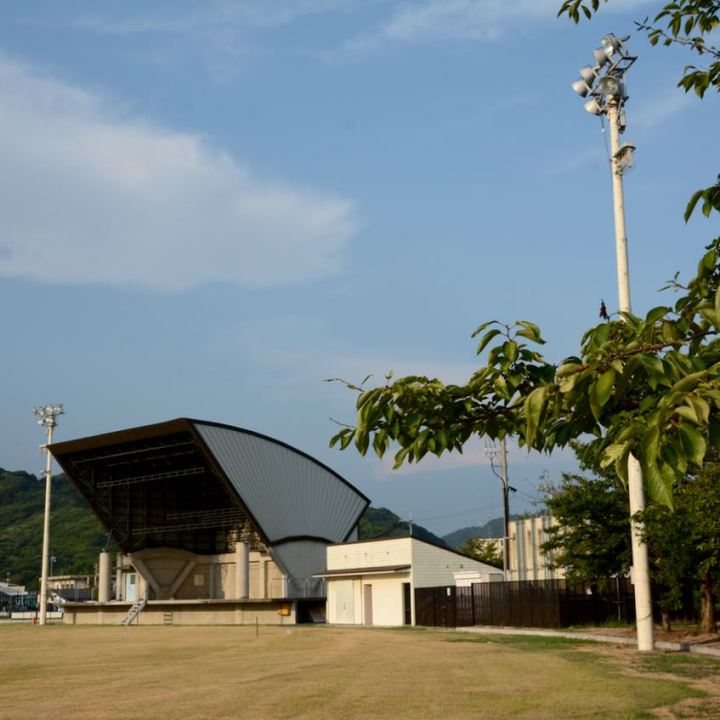 Ikuchijima setoda sunset beach architecture stadium