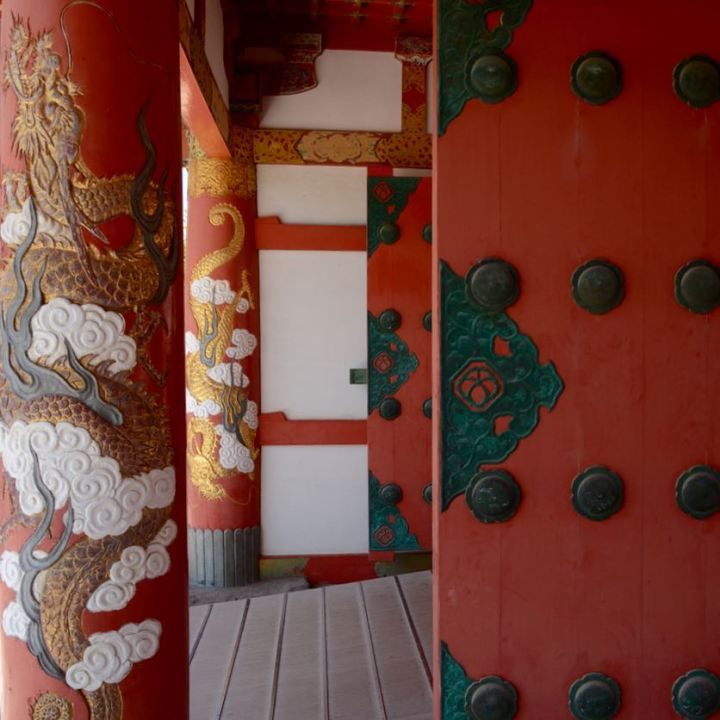 ikuchijima setoda kosanji temple shrine entrance gate doors