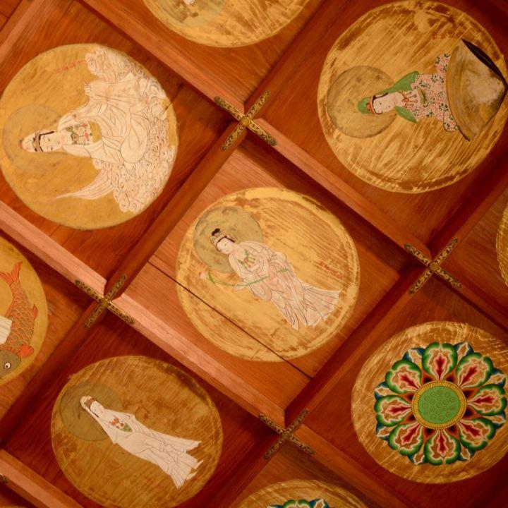 ikuchijima setoda kosanji temple shrine chousaikaku villa altar room ceiling