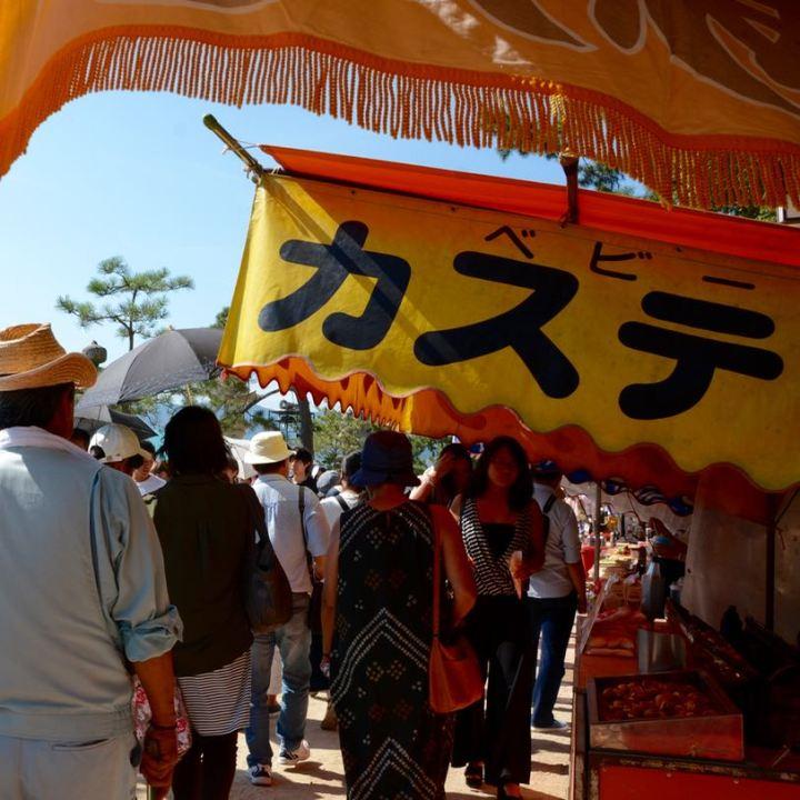 miyajima hanabi firework festival stall