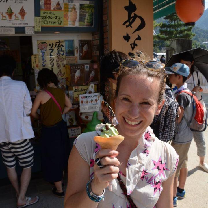 miyajima hanabi firework matcha ice cream