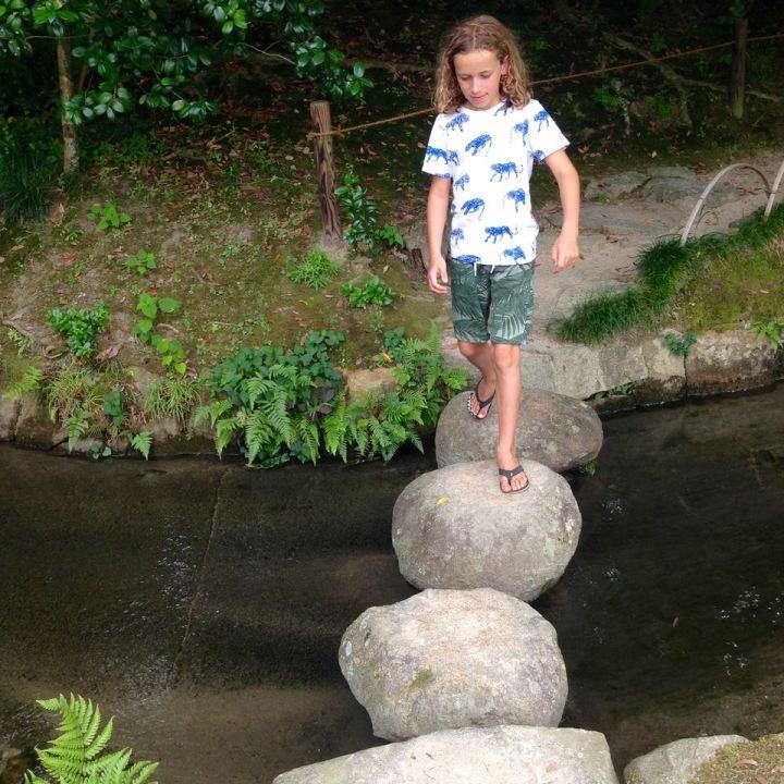 Okayama korakuen garden stepping stones