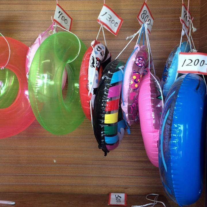 tomonoura beach swim rings